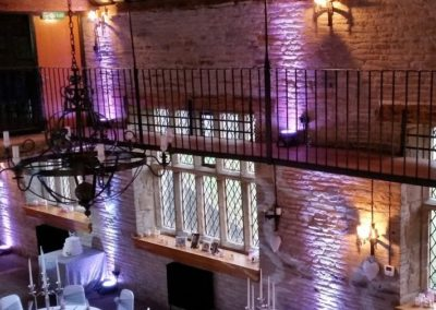 Uplighting Hire Old Grammar School Middleton
