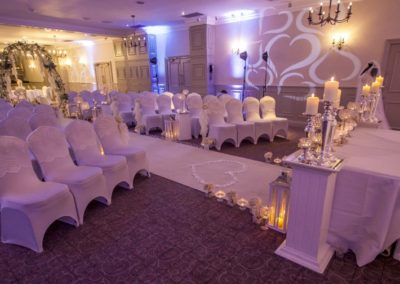 Uplighting & Wall Projection Mottram Hall