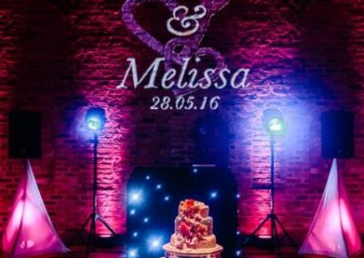Wedding names in lights