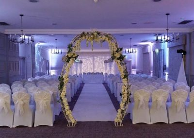 Starlight Backdrop Mottram Hall Wedding
