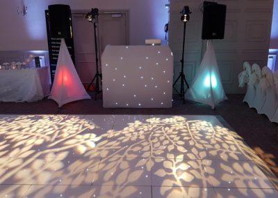 Dancefloor leaf Projection Mottram Hall