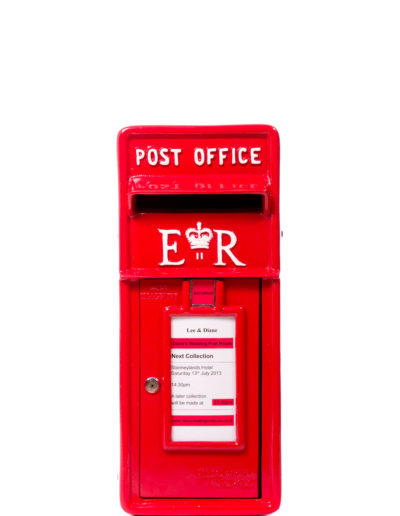 Red/Cream ER Post Box