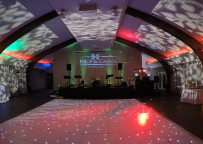 Colshaw Hall Wedding Leaf Effect lighting
